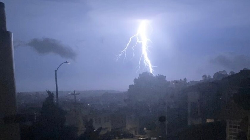 Lightning strikes the San Francisco Bay Area