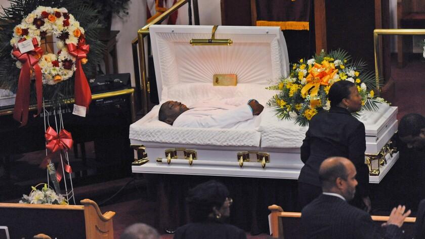 Eric Garner's July 23 funeral at Bethel Baptist Church in Brooklyn.