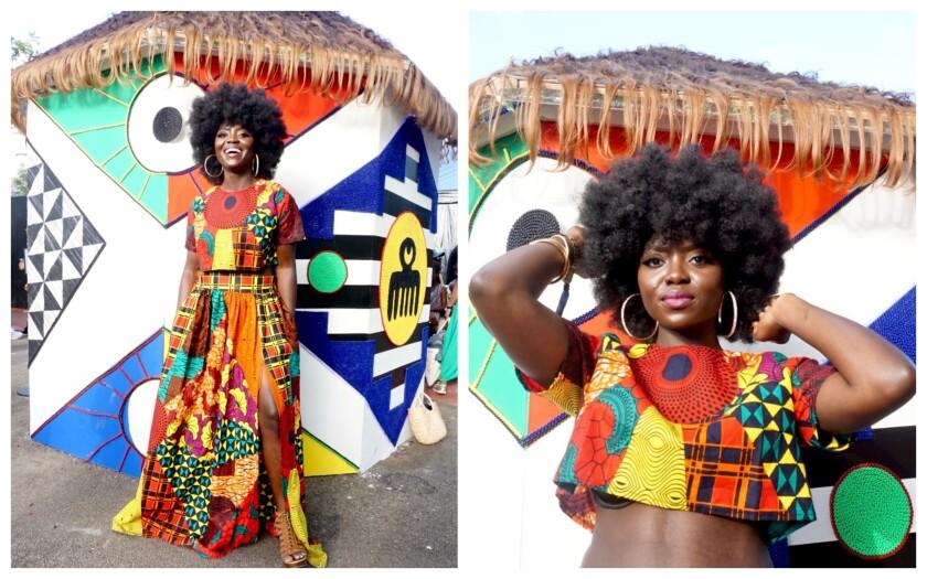 Jennifer Navarrete at Afropunk in Brooklyn, N.Y.