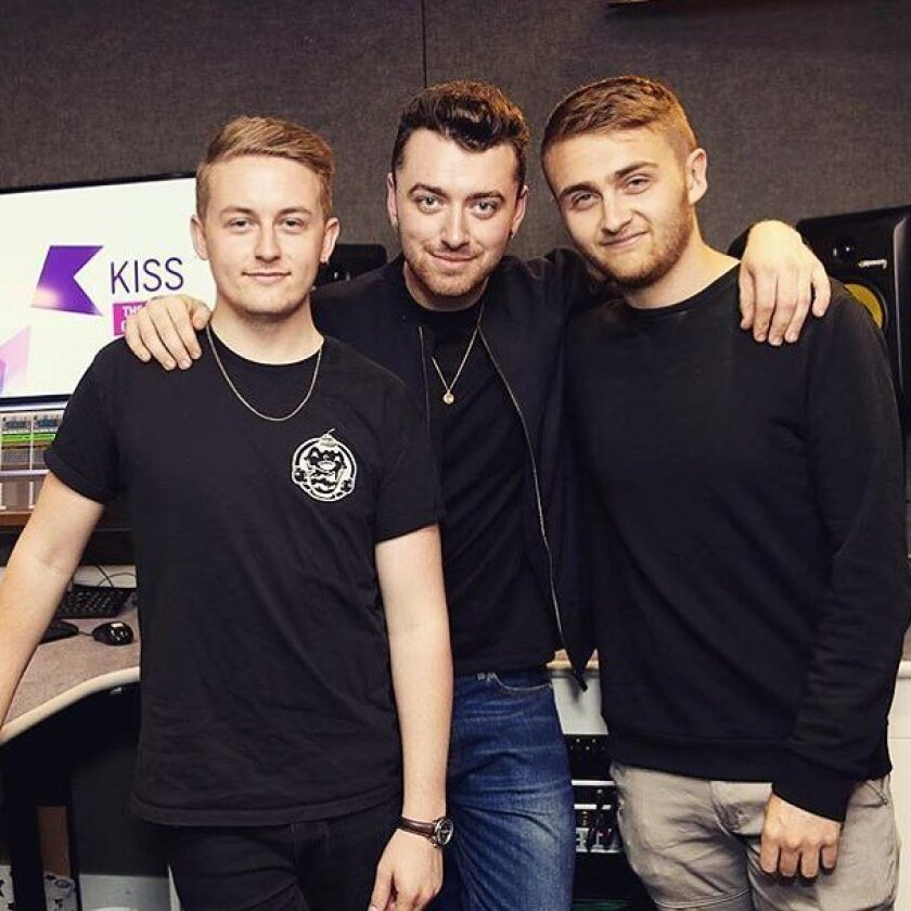 Disclosure with Sam Smith (center).