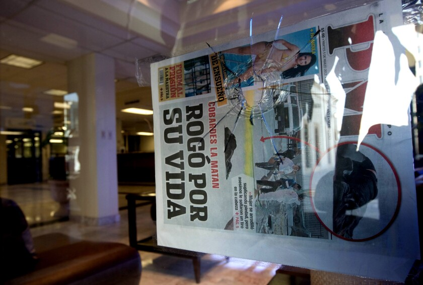 Gunmen fire on newspaper office in northern Mexico