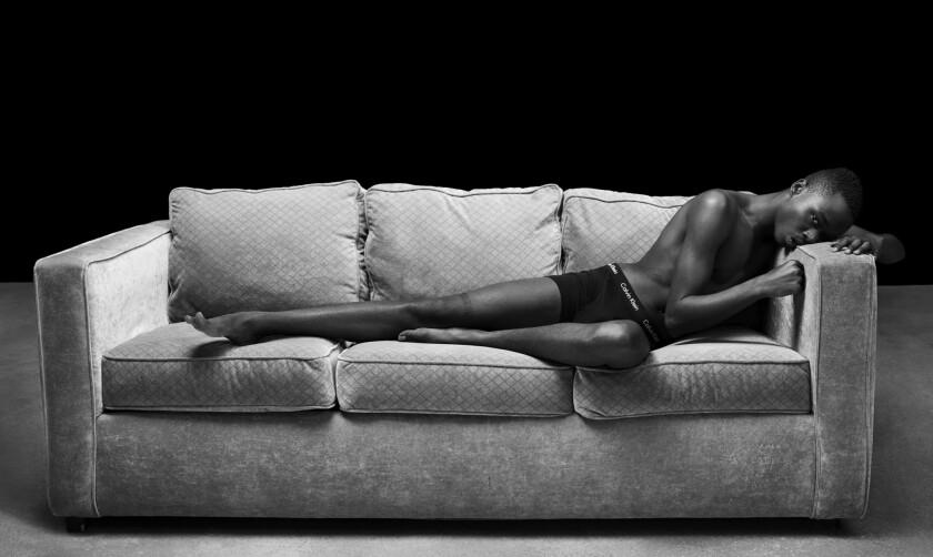 Actor Ashton Sanders wears Calvin Klein Underwear. Cotton stretch boxer brief.