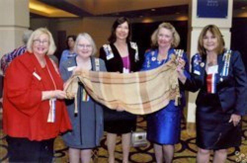 Marti Meiners, JoAnn LaGasse, Laurel Lemarié, Joanne Murphy and Bettybob Williams.