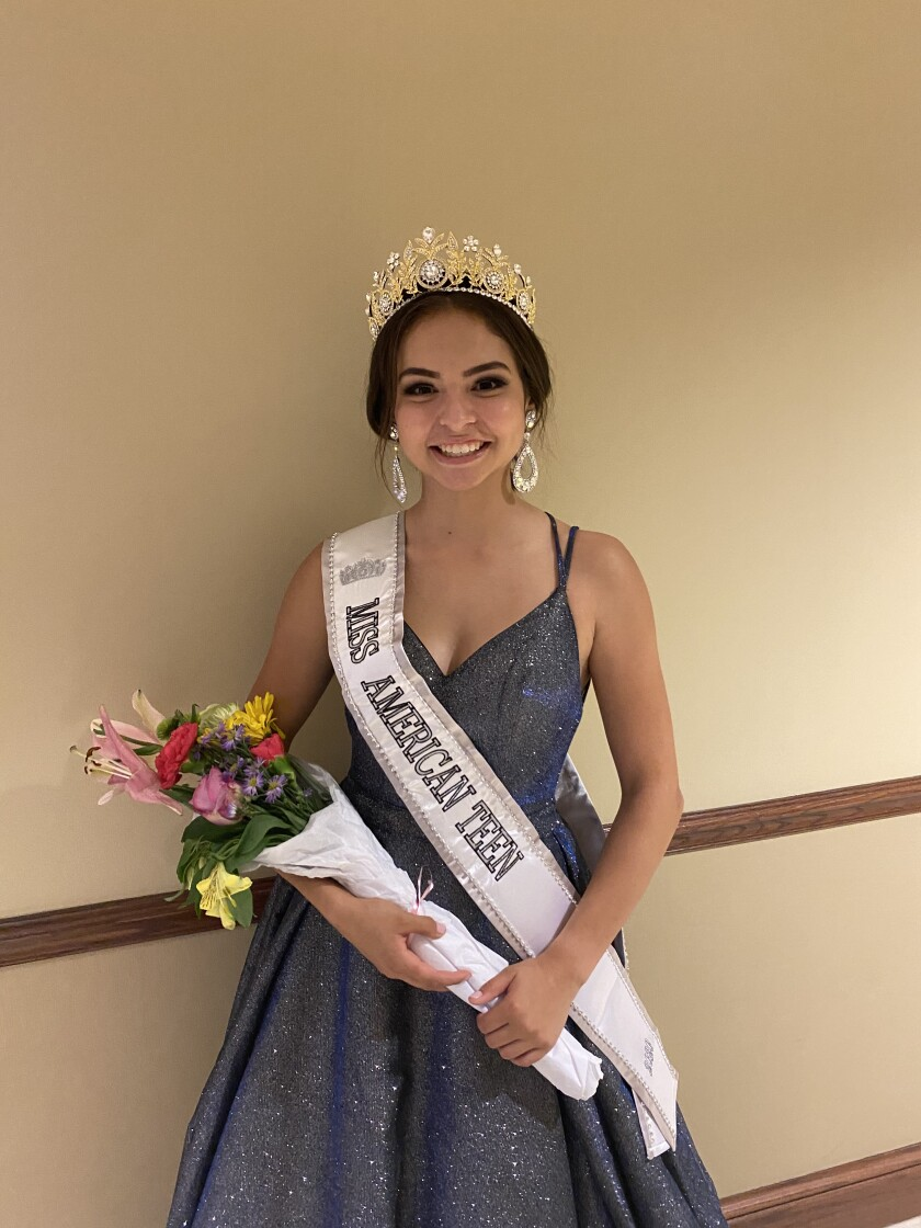 Jenna Rain Hernandez, an incoming senior at La Jolla Country Day School, is the 2020 Miss American Teen pageant winner.