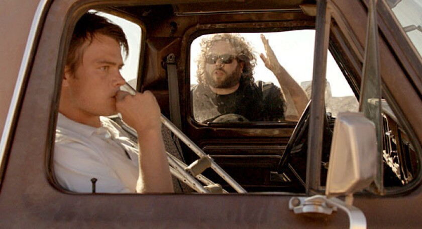 "(L-R) Josh Duhamel and Dan Fogler in the unique character-driven thriller ""Scenic Route."""