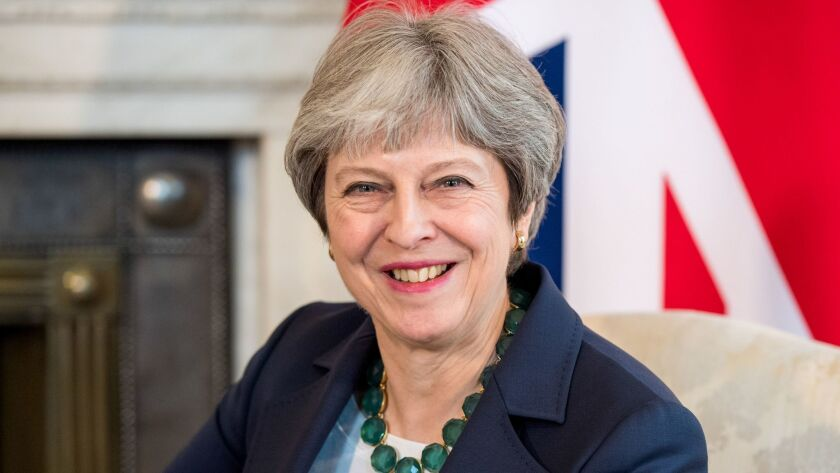 British Prime Minister Theresa May welcomes Netherlands Prime Minister Mark Rutte, London, USA - 21 Feb 2018