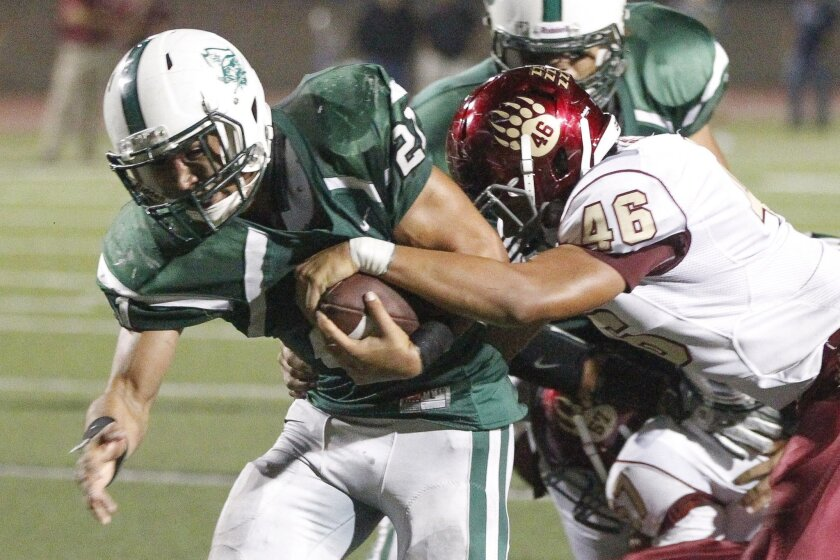 Oceanside's Josh Bernard has rushed for 1,455 yards and 25 touchdowns.