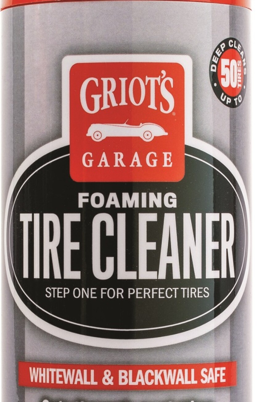 Use tire cleaner first, then finish with a tire dressing.