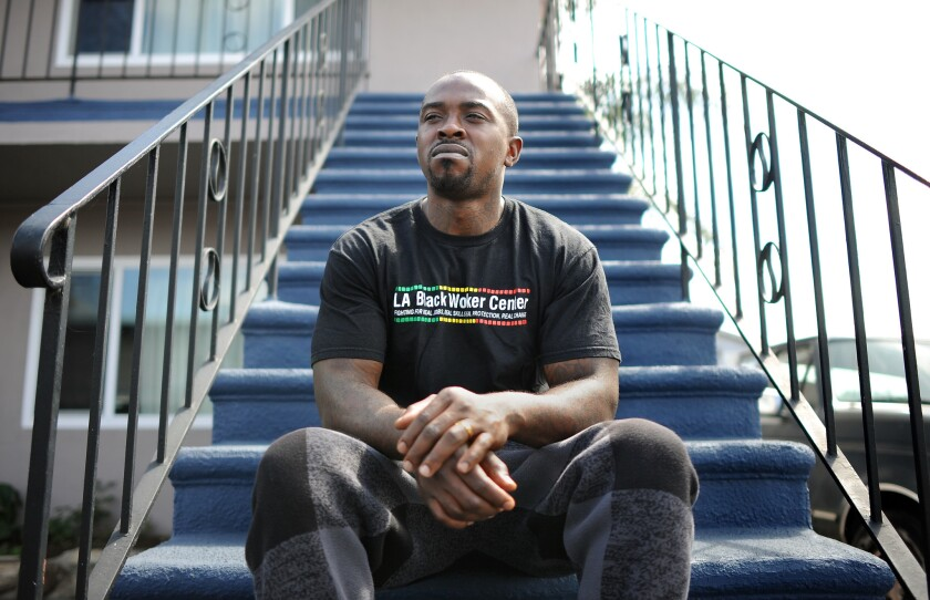 Mitchell Johnson of Hawthorne, who has been unemployed since 2012 after he completed an 11-month youth job training program, said he's tried to get into the construction industry, but hasn't had much luck.