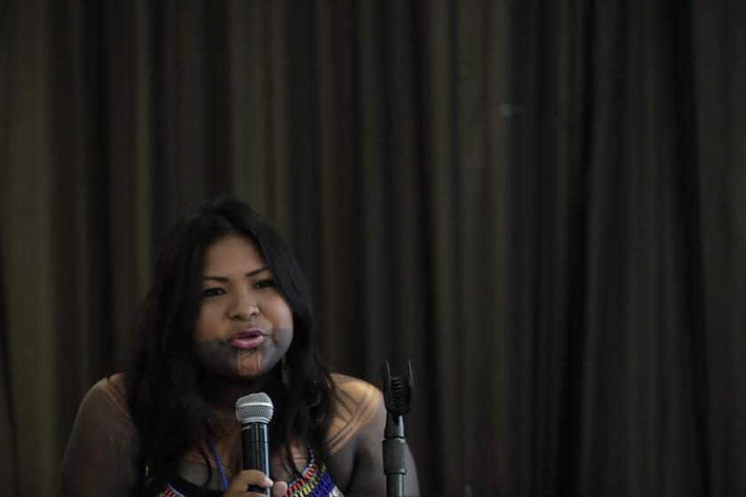 La presidenta del Congreso General Emberá de Alto Bayano (Panamá), Sara Omi. EFE/Archivo