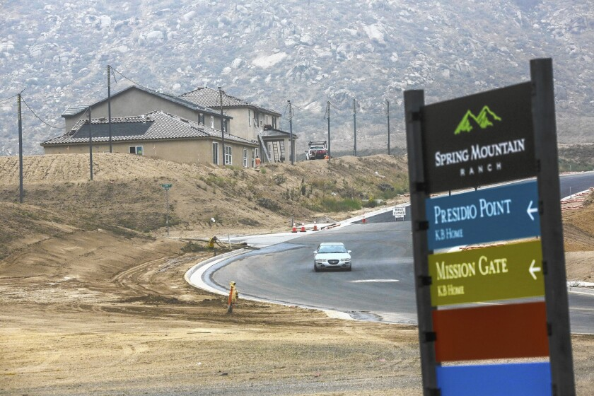 Big bet on Inland Empire housing recovery