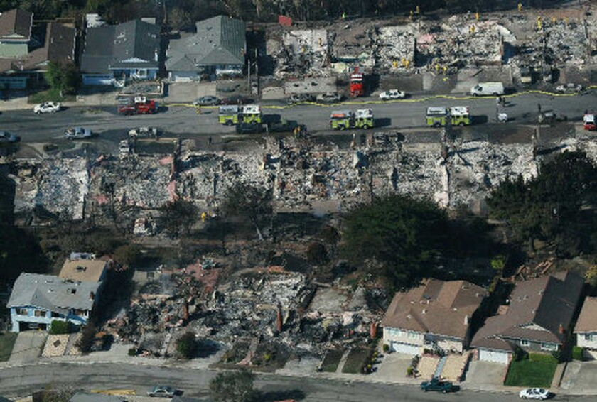 The aftermath of the 2010 explosion, which destroyed 38 homes and killed four people in Northern California.