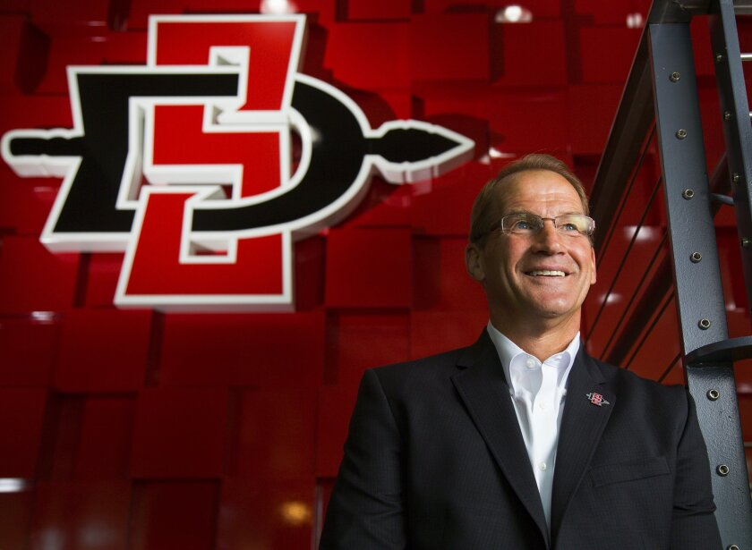 Jim Sterk, San Diego State's director of athletics, has been named a 2015-16 Athletic Director of the Year by the National Association of Collegiate Director of Athletics (NACDA). The award was presented earlier this month at the annual NACDA convention.