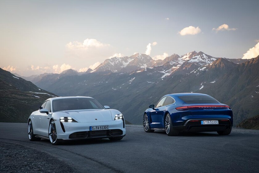 The Porsche Taycan Turbo and the Turbo S