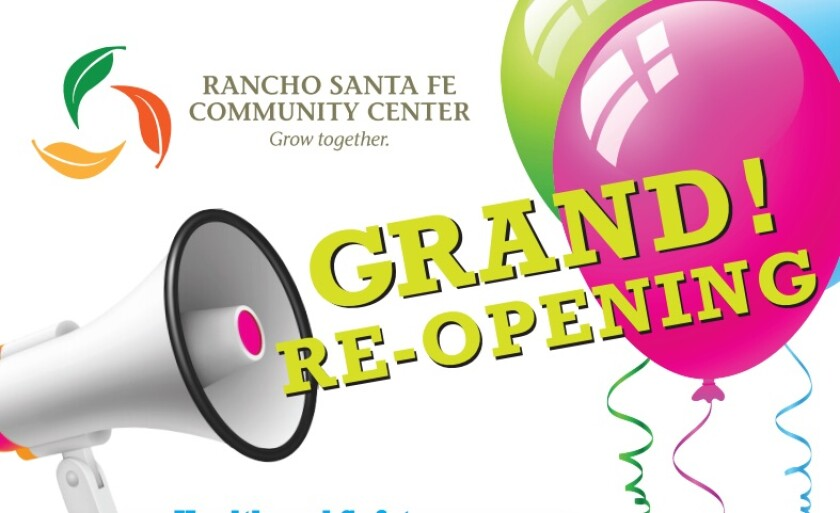 The Rancho Santa Fe Community Center is preparing to reopen.