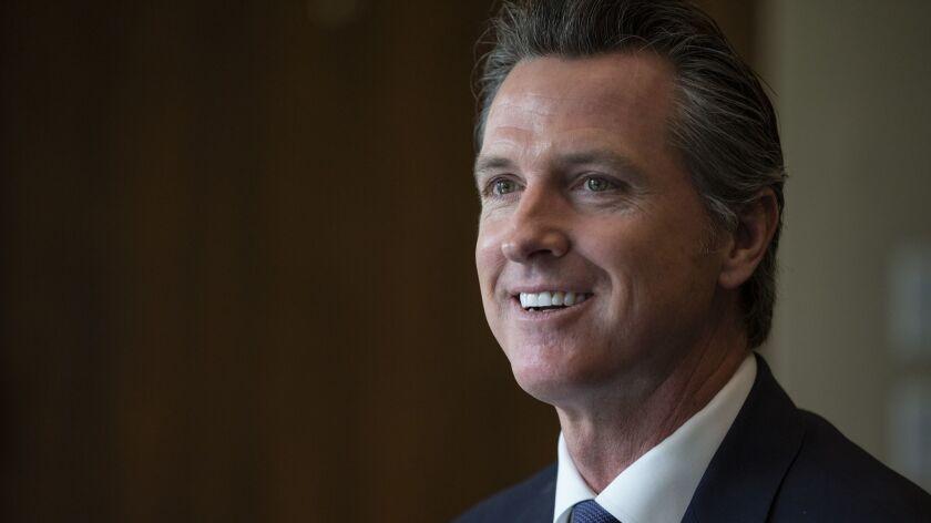 SACRAMENTO, CA, MONDAY, APRIL 15, 2019 - California Governor Gavin Newsom sits down for a q and a wi