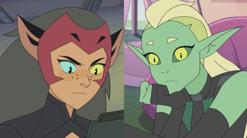 Double Trouble and Catra in 'She-Ra'