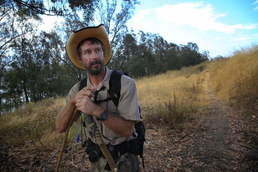 Mark Hainds walked from El Paso, Texas, to Friendship Park in San Diego.