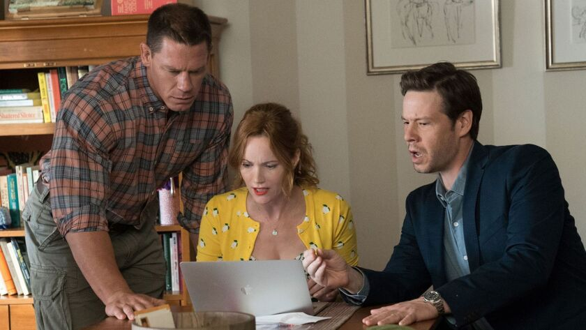 """John Cena, Leslie Mann and Ike Barinholtz star in """"Blockers"""" as concerned parents trying to stop their daughters' plans to lose their virginity on prom night."""