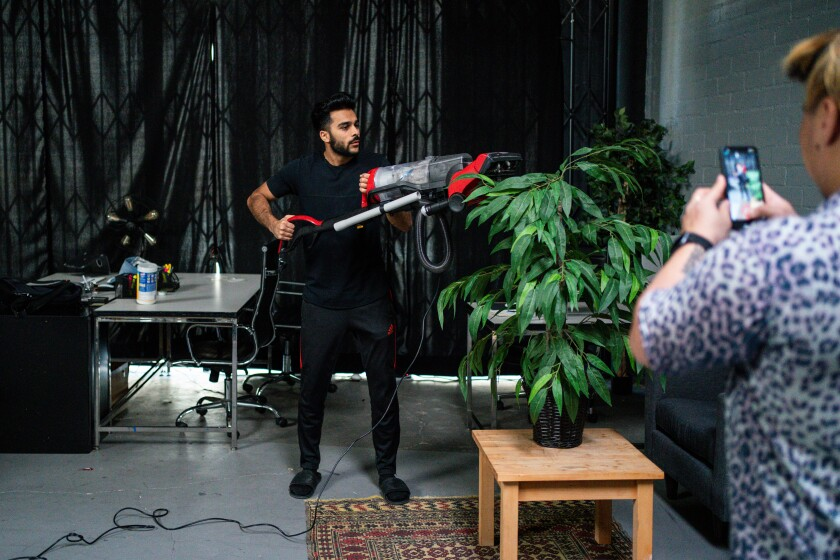 """Adam Waheed records a video for TikTok with Galang """"Stro"""" To last year."""