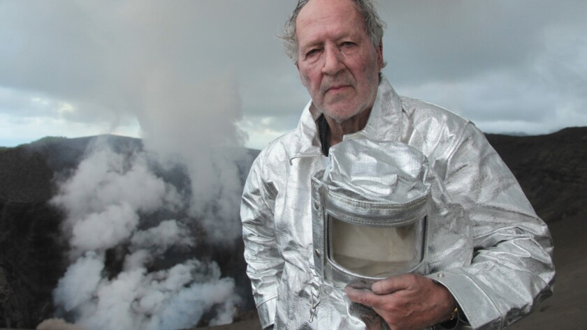"Filmmaker Werner Herzog in the documentary ""Into the Inferno."""