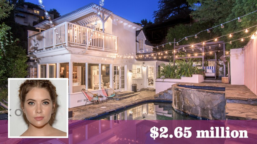 """""""Pretty Little Liars"""" star Ashley Benson has sold her home in Hollywood Hills West for $2.65 million."""
