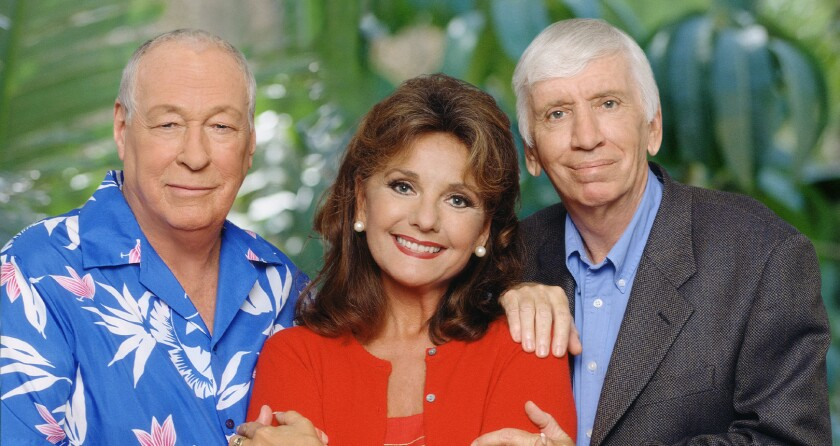 "A GoFundMe page for ""Gilligan's Island"" star Dawn Wells, shown in undated photo with former co-stars Russell Johnson (left) and Bob Denver, has raised over $50,000."