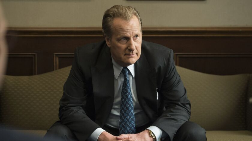 "This image released by Hulu shows Jeff Daniels in a scene from ""The Looming Tower."" Daniels was nomi"