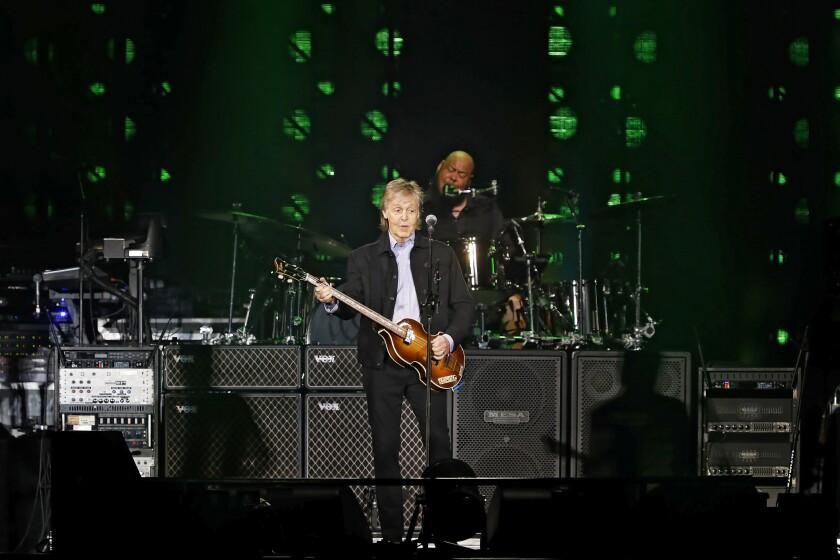 Paul McCartney in concert at Petco Park on June 22, 2019