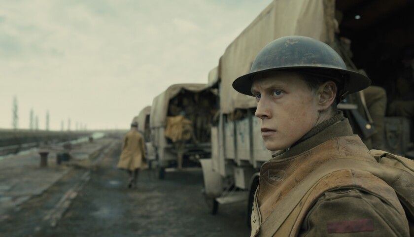 """George MacKay in """"1917,"""" the Oscar front-runner for best picture."""