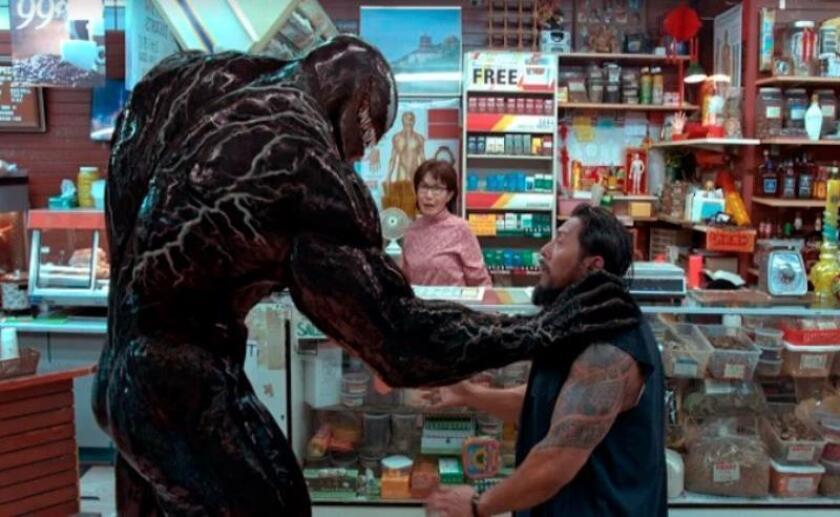 """Imagen de un fotograma de la película """"Venom"""", en la que el británico Tom Hardy interpreta al enemigo de Spiderman y en declaraciones a Efe ha afirmado que """"Vendom es un gran personaje y le encantó interpretar sus dos caras"""". EFE/Sony Pictures"""