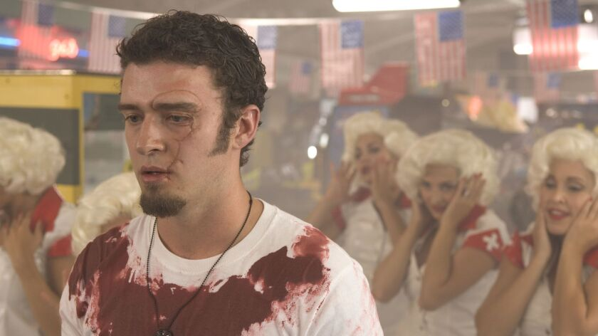 "ET.1005.Sneaks.12 –– Justin Timberlake in 2007 movie ""Southland Tales"". @@*@@*@@*EXCLUSIVE @@*@@*@@*"
