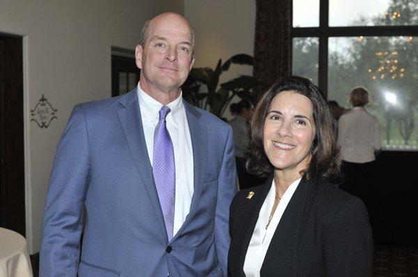 New Association Manager Bill Overton, board President Ann Boon