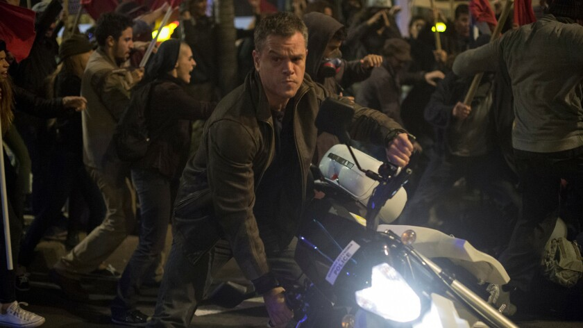 "Matt Damon in the movie ""Jason Bourne."""
