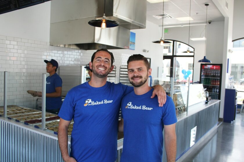 Torrey Pines grads Shane Stanger and Robbie Robbins opened Baked Bear in Pacific Highlands Ranch Village on June 26.