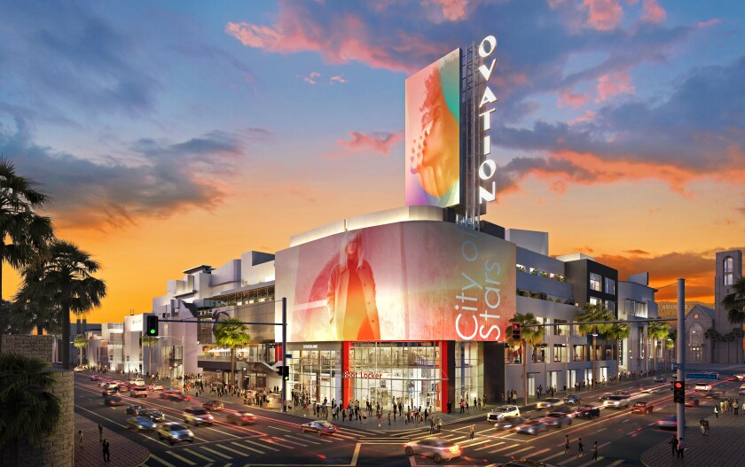 Rendering of Hollywood & Highland after a $100-million makeover