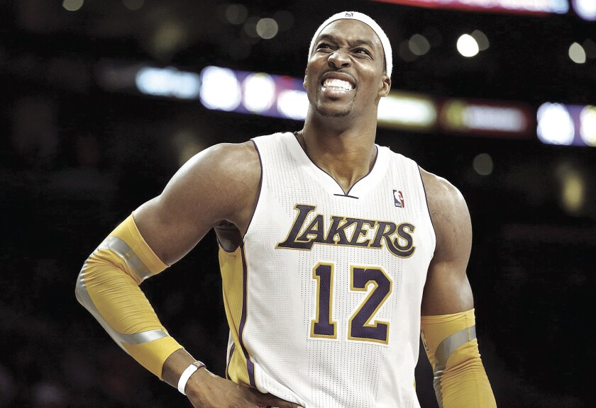 Dwight Howard played for the Lakers from 2012 to 2013.