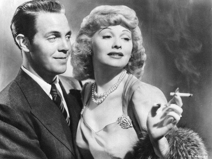 """Louis Hayward and Lucille Ball in the movie """"Dance, Girl, Dance."""""""