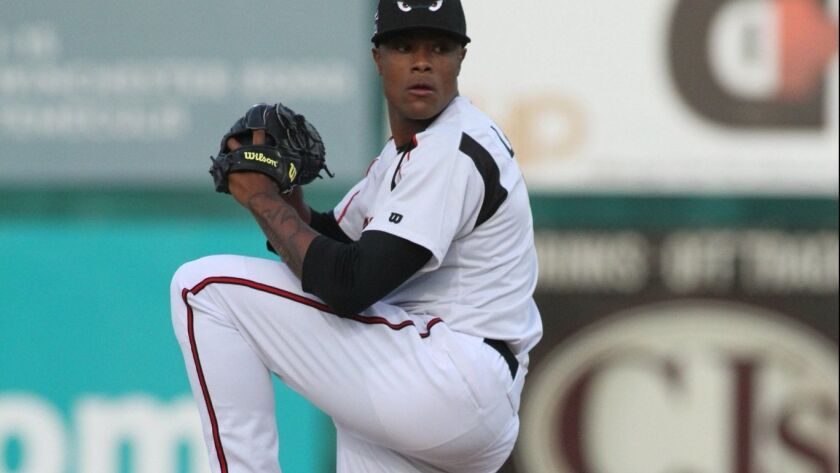 Padres pitching prospect Reggie Lawson started the 2018 season at high Single-A Lake Elsinore.