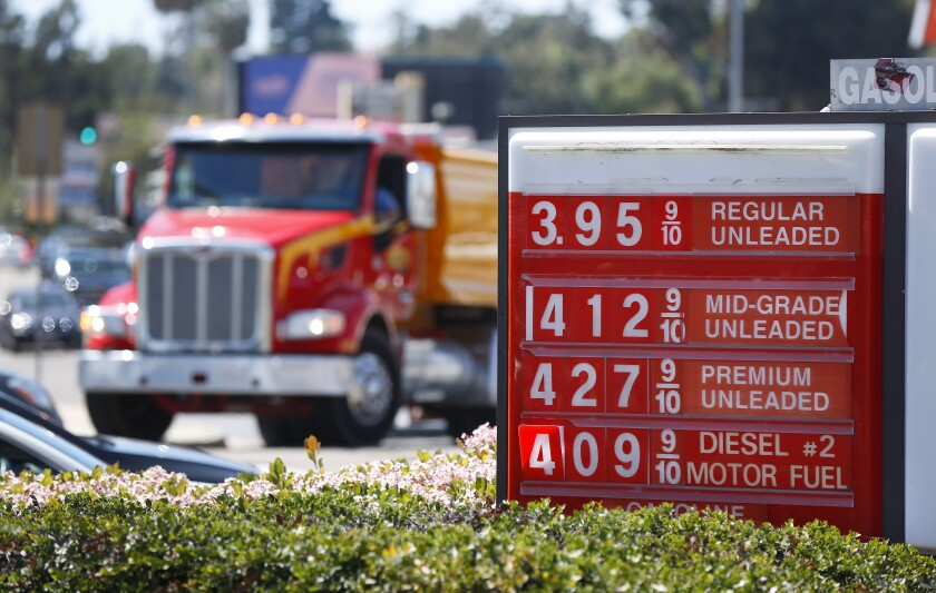 Gas Prices San Diego >> Gasoline Prices In San Diego Spike To Near 4 A Gallon The