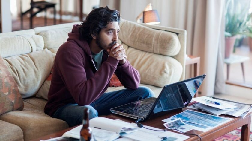 "Dev Patel in a scene from ""Lion."""
