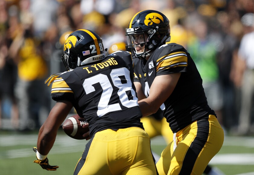 Iowa quarterback Nate Stanley and running back Toren Young will keep Iowa State's defense busy Saturday.
