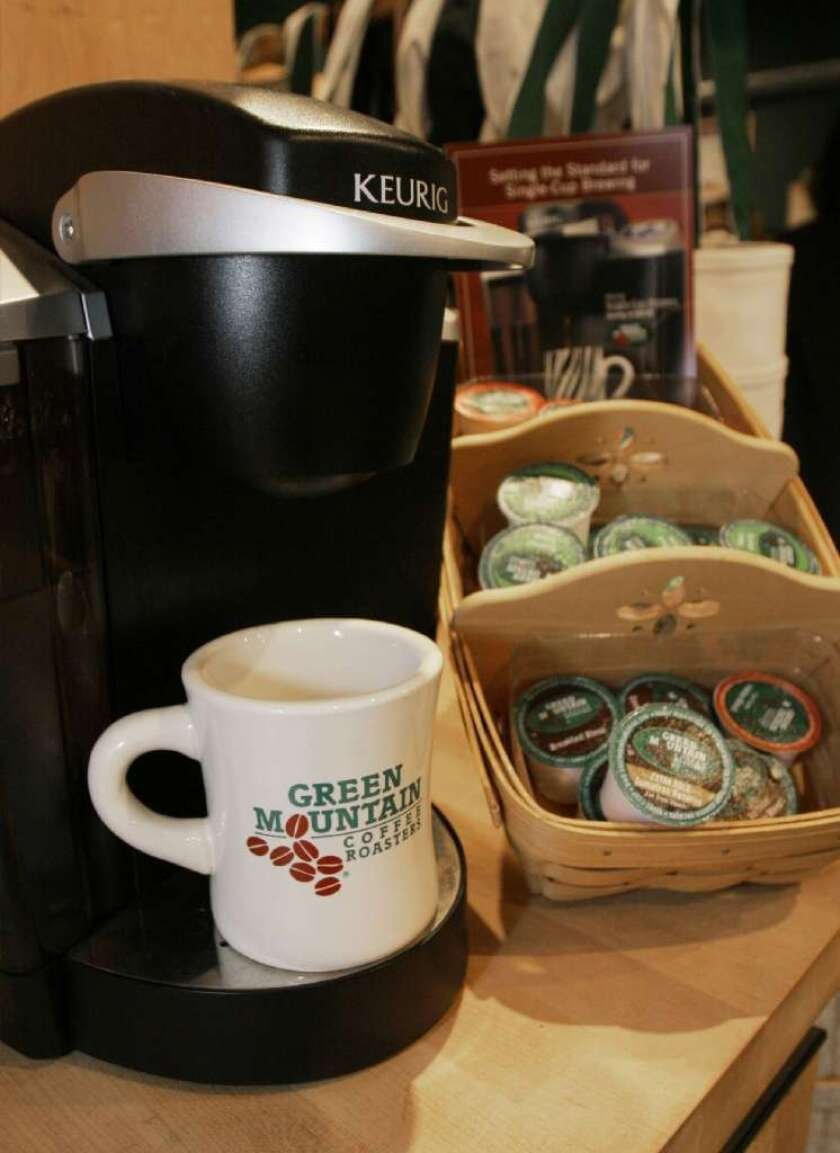 Desperate to keep its franchise: A Keurig Green Mountain brewing machine and pods.