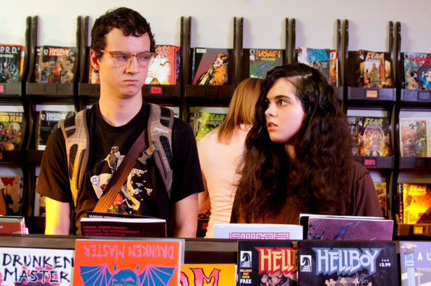 """Gaelan Connell and Vanessa Marano as Payton and Samantha in """"The Secret Lives of Dorks."""""""