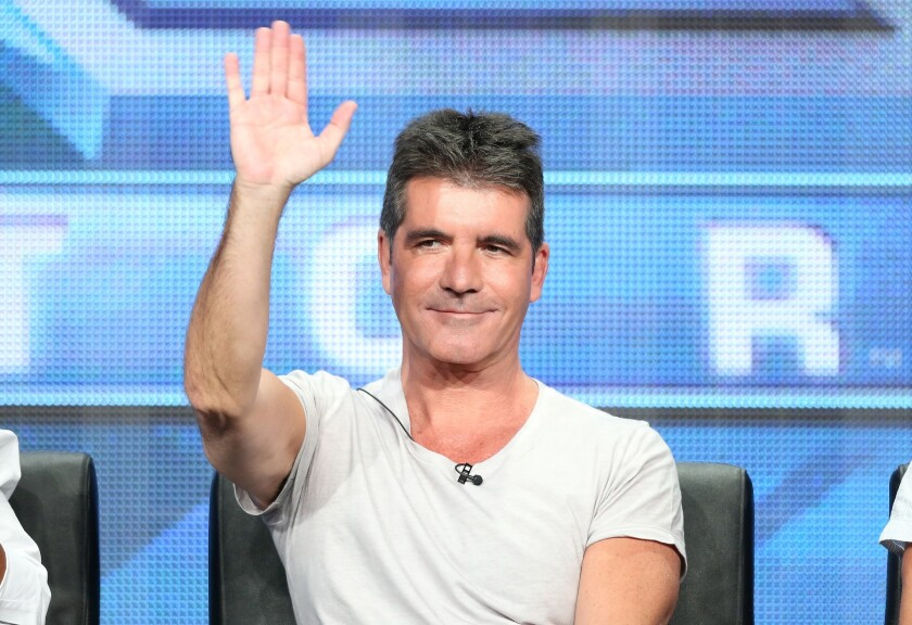 """Simon Cowell at """"The X Factor"""" panel discussion at the 2013 Summer Television Critics Assn. tour."""