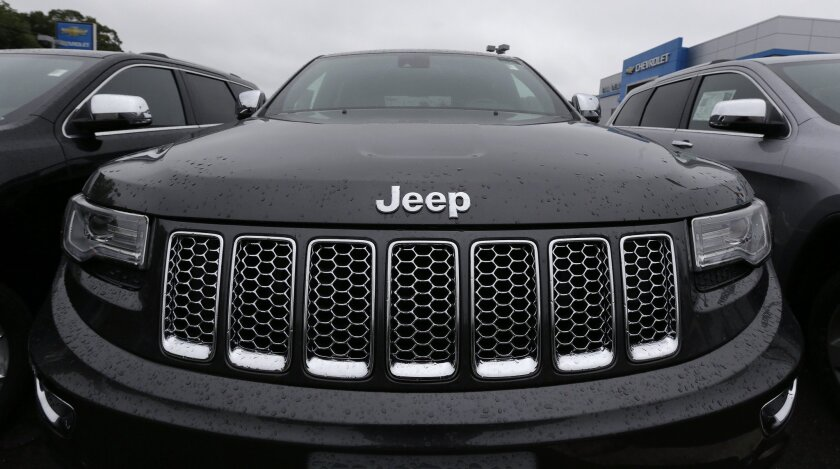 A Jeep Grand Cherokee at a dealership in Haverhill, Mass., on Oct. 1.