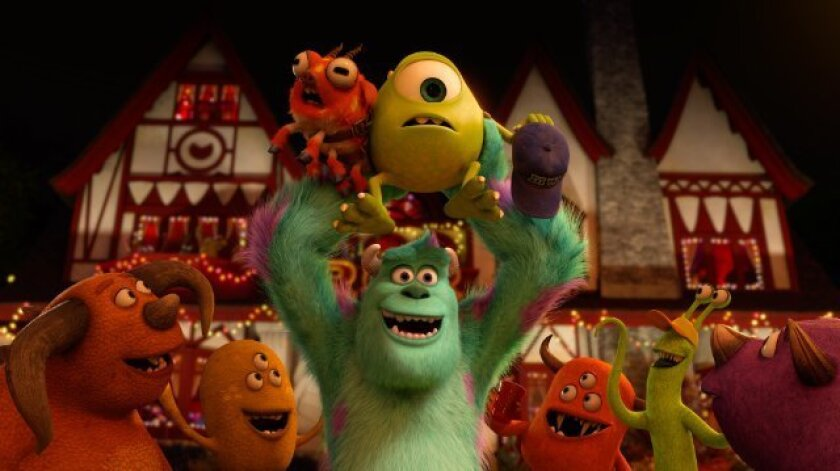 """A scene from """"Monsters University,"""" which was the top film at the box office over the weekend."""