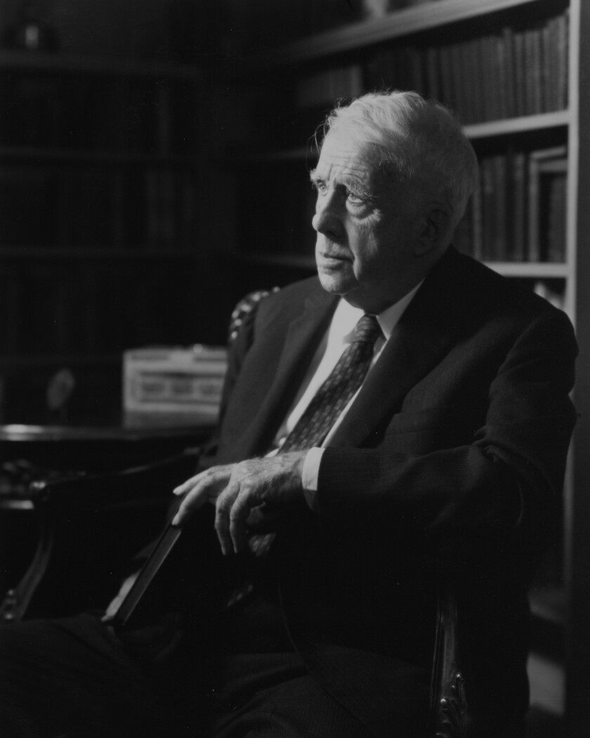Robert Frost Sits At Home