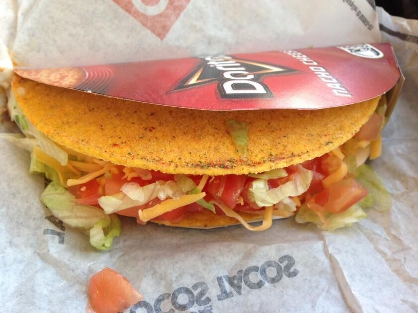 Taco Bell's Cool Ranch Doritos Locos taco