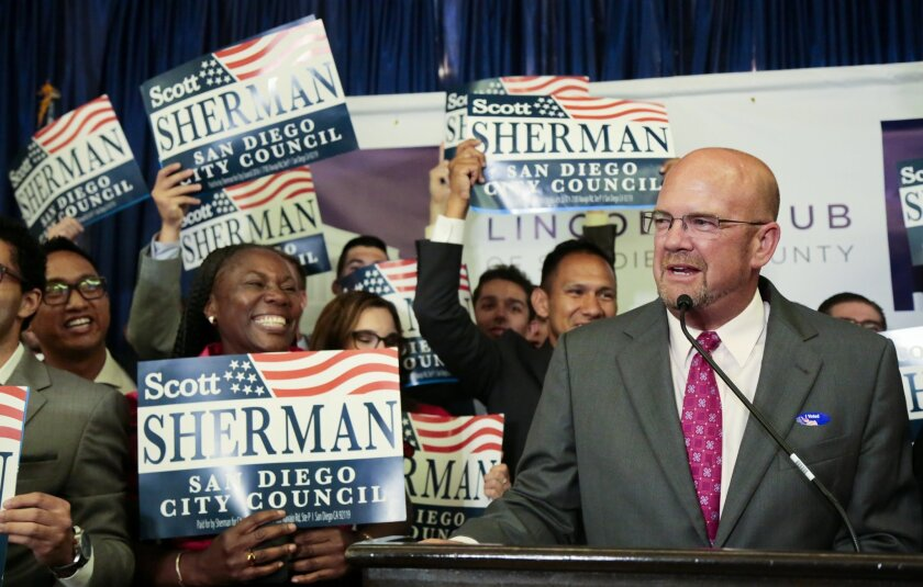 City Councilman Scott Sherman has decided to run for San Diego mayor